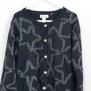 Cat & Jack Black Button Down Cardigan size 7 - 8